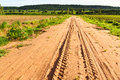 Rough way in countryside of thailand Royalty Free Stock Photo