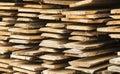 Rough Wood Plank In Heap