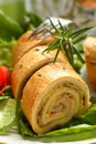 Roulade made from beckon and c Royalty Free Stock Photo
