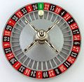 Roulette a beck on white background Stock Images