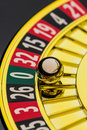 Roulette casino gambling the cylinder of a in a winning or losing is decided by chance number zero lost everything Stock Photography
