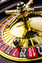 Roulette gambling in the casino cylinder of a a winning or losing is decided by chance Stock Photo