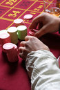 Roulette Gambling chips Royalty Free Stock Photography