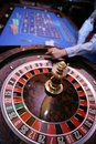 Roulette gambling table in casino