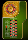Roulette table layout Royalty Free Stock Image