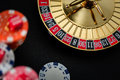 Roulette wheel gambling in a casino. Royalty Free Stock Photo