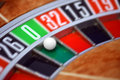 Roulette wheel gambling concept photo Stock Photography