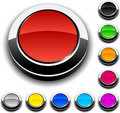 Round 3d buttons. Royalty Free Stock Photos