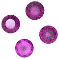 Round amethyst Royalty Free Stock Photography