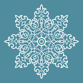 Round arabesque pattern ornament decorative blue element Royalty Free Stock Images