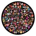 Round Art Collage