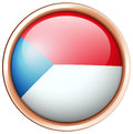 Round badge design for Czech Republic