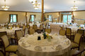 Round banquet tables Royalty Free Stock Photo