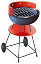 A round barbeque grill illustration of on white background Royalty Free Stock Photos