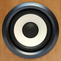 Round bass sound speaker Stock Image