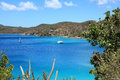 Round bay in st john u s virgin islands Stock Photo