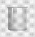 Round beaker on transparent background