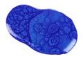 Round blot of blue nail polish isolated on white background Royalty Free Stock Photo
