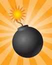 Round bomb Royalty Free Stock Photo