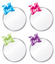 Round Bright Colored Gift Tags Stock Photo