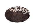 Round brown carpet