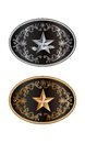 Round buckle western style with lone star of texas Royalty Free Stock Images