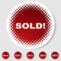 Round Button Set - Sold Royalty Free Stock Photo