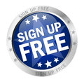 Round button Sign up free Royalty Free Stock Photo