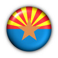 Round Button USA State Flag of Arizona Royalty Free Stock Image