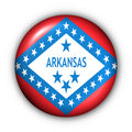 Round Button USA State Flag of Arkansas Stock Images