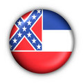 Round Button USA State Flag of Mississippi Stock Photos