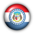 Round Button USA State Flag of Missouri Stock Images