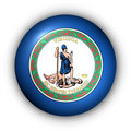 Round Button USA State Flag of Virginia Stock Photos
