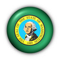 Round Button USA State Flag of Washington Royalty Free Stock Photo