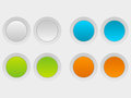 Round buttons set of color Stock Image