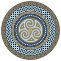 Round Celtic Design. Ancient Celtic magic mandala