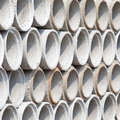 Round cement tunnel for construction Stock Images