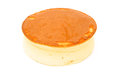 Round cheese cake on a white background Stock Photography