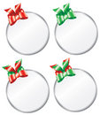 Round Christmas Gift Tags Royalty Free Stock Photos