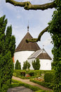 Round church Ols in Bornholm, Denmark Royalty Free Stock Photo