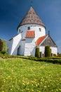 Round church Ols Kirke St. on Bornholm Royalty Free Stock Photo