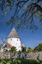 Round church St. Ols Kirke on Bornholm Royalty Free Stock Photo