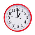 Round clock shows exactly one o clock large Stock Photos