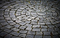 Round cobblestone pavement background Stock Photography