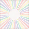 Round colored frame with rays and border Royalty Free Stock Image