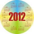 Round colorful calendar 2012 Stock Photos