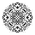 Round decorative ornament element. Mandala
