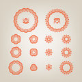 Round decorative shapes Stock Photography