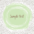 Round dots template with a mint green dot with space for your text. Royalty Free Stock Photo