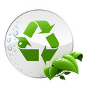 Round environmental label Stock Photography